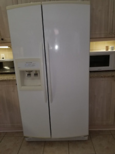 KITCHENAID FRIDGE, STOVE, DISHWASHER, KITCHEN RANGE HOOD.