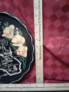 Black metal Vintage round California Tray  Windsor Region Ontario image 1