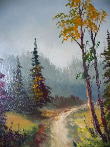"""Oil Painting by Listed Artist Paul Hyttinen """"A Forest Path"""" 1950 Stratford Kitchener Area image 8"""