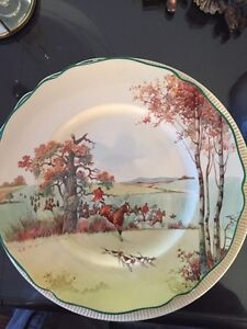 Royal Doulton Fox Hunting Ploughman dinner plate $250