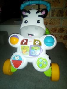 Brand New Zebra Baby musical learning Walker