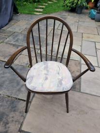 Ercol Originals Windsor Dining Armchair - dark wood