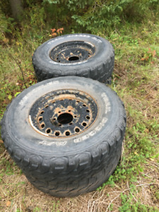 TOYOTA STEEL RIMS with TIRES