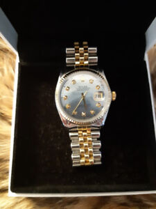 Genuine ROLEX mens DATEJUST + 5  Custom DIALS