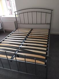 Used metal king size bed frame with king size matters very good condition