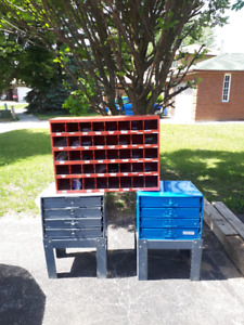storage cabinets and shelf for nuts and bolts etc
