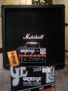 Orange Micro Dark w Marshall 4x12