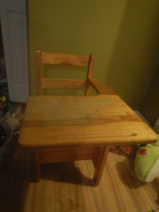 old fashioned wooden school desk- great cond., solid wood