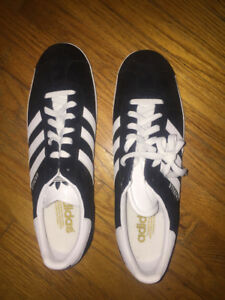 Adidas Gazelles and Superstar men's shoes, unworn, $60 each pair