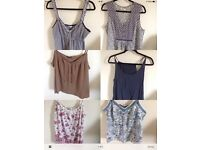 Ladies Summer Tops Bundle x 6 Size 18. £6