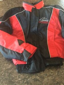 Kids snowmobile jacket with flotation, almost new!