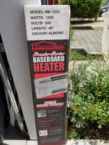 "Electric Baseboard Heater 4 feet (48"")  (3 pieces),  $35.00 each"
