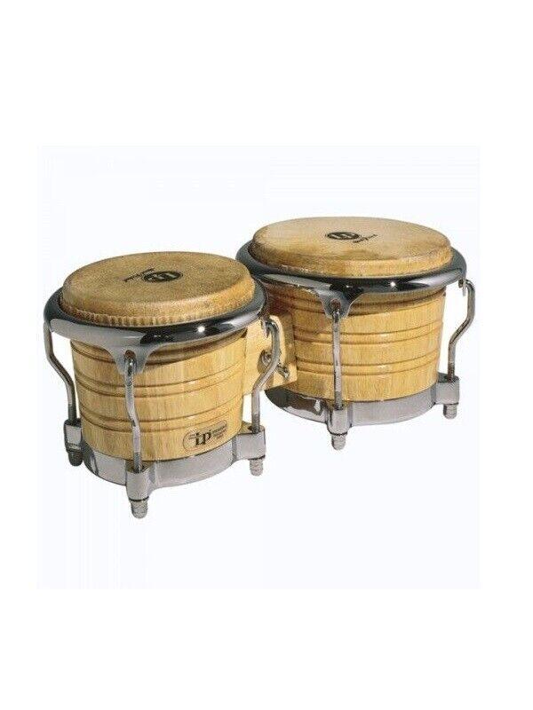 Latin Percussion LP201AX-2AW Bongo Legno Natural ( pelle nuova cambiata)