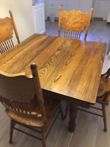 Rare Unique Antique Elm Dining Table early 1900's