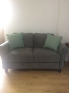 Like New Grey Loveseat for Sale, South End Halifax - $250 OBO