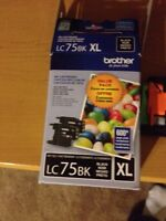 Brother LC75 black printer ink