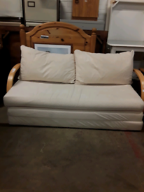 Small cream sofa bed £60