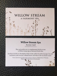 Vancouver Willow Stream Spa Day Access Passes- valid Mon- Thurs
