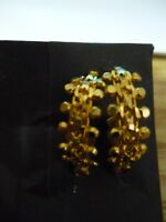 GENUINE 22K GOLD EARRINGS WITH RUBIES FROM INDIA-3.4 grams