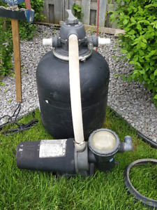 Above Ground Pump and Filter