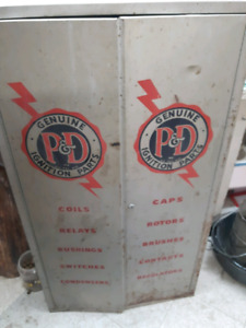 Old parts cabinet
