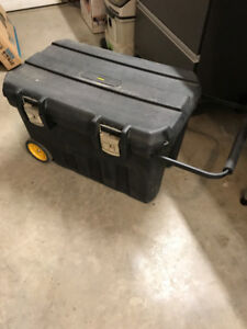 Stanley Toolbox on wheels with pull bar