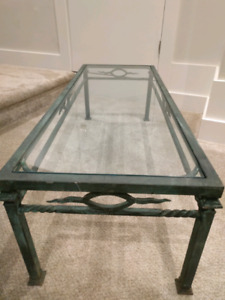 Rod Iron and Glass Table