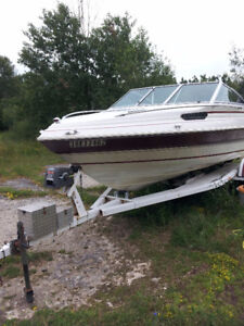 1989 18.5ft, Boat, 115 evinrude outboard with trailer