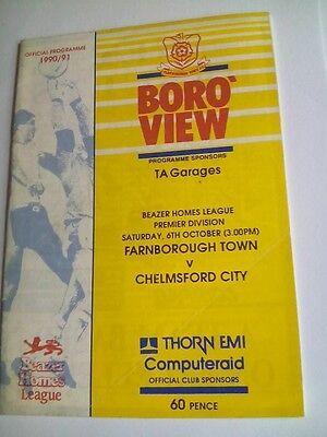 Farnborough Town V Chelmsford City Beazer Homes Premier League 6 10 1990