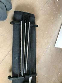Chrome/Black Clothes Rail