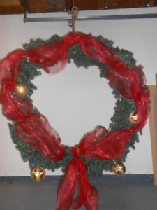 Very Large Christmas Wreath with Decorations