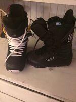 Women's size 8.5 button snowboard boots