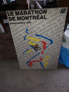 poster  Marathon de montreal 1986