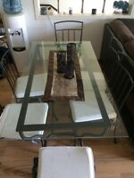 IKEA glass dining room table for sale