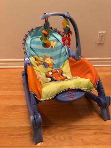Chaise bébé Fisher Price berçante et vibrante
