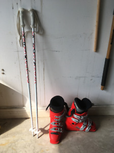 Ski Boots size 5 and Poles 38 inch