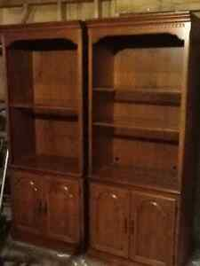Two solid wood cabinets