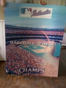 Baseball Champ 3D picture poster HUGE Moving lenticular London Ontario image 3