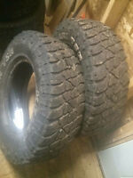 TWO LT 235/75/15. KELLY SAFARI TIRES. 65% THREAD. $60