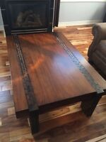 Exotic coffee table with (1) end table