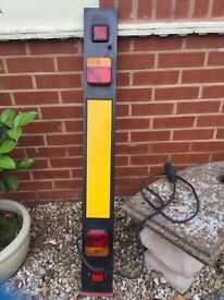 Trailer towing/bike carrier number board with lights