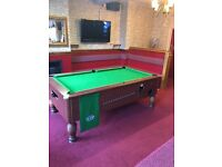 Coin operated slate pub pool table