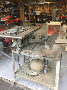 older rockwell table saw and jointer