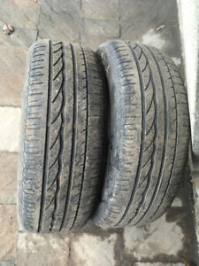 2 ALL SEASON TIRES RUN FLAT 195/55/16 BRIDGESTONE TURANZA