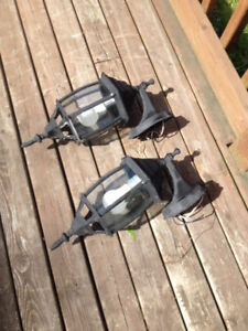 Dark Metal Outdoor Lights