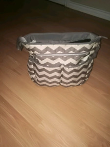 Baby Boom Chevron Tote Diaper Bag - Cream/Grey