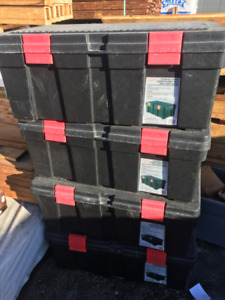 4 Big Large (118L/ 31Gal) Lockable Stackable Storage Tote Boxes