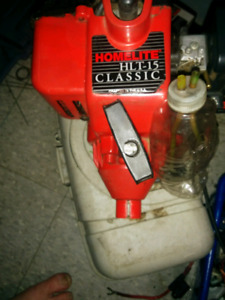 Running 2 stroke trimmer engine
