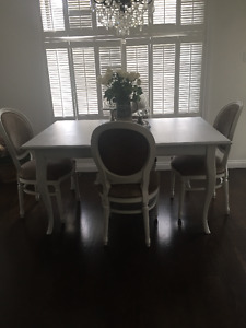 Solid wood shabby chic table