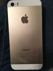 GOLD iPHONE 5S LIKE NEW WITH FIDO